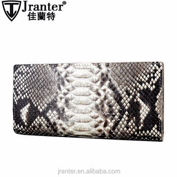 2016 Fashionable Python Snakeskin Wallets For Lady, Handmade Long wallet women genuine leather