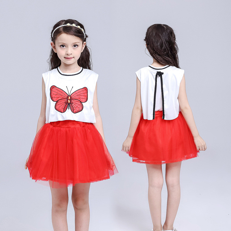 2017 New fashion high quality custom summer sleeveless lace kid dress