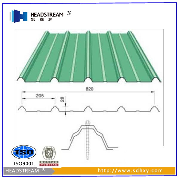 Hongxinyuan corrugated galvanized steel sheet with price for Types of roof covering materials