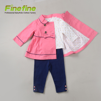 a3f7a76dd Spring Fall Kid Clothing Girls Pink Peacoat Jacket Set - Buy Kid ...