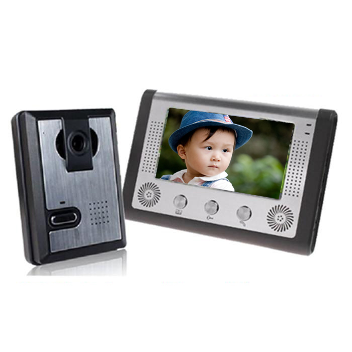"7"" Color LCD Video Door Phone Wired Video Intercom"