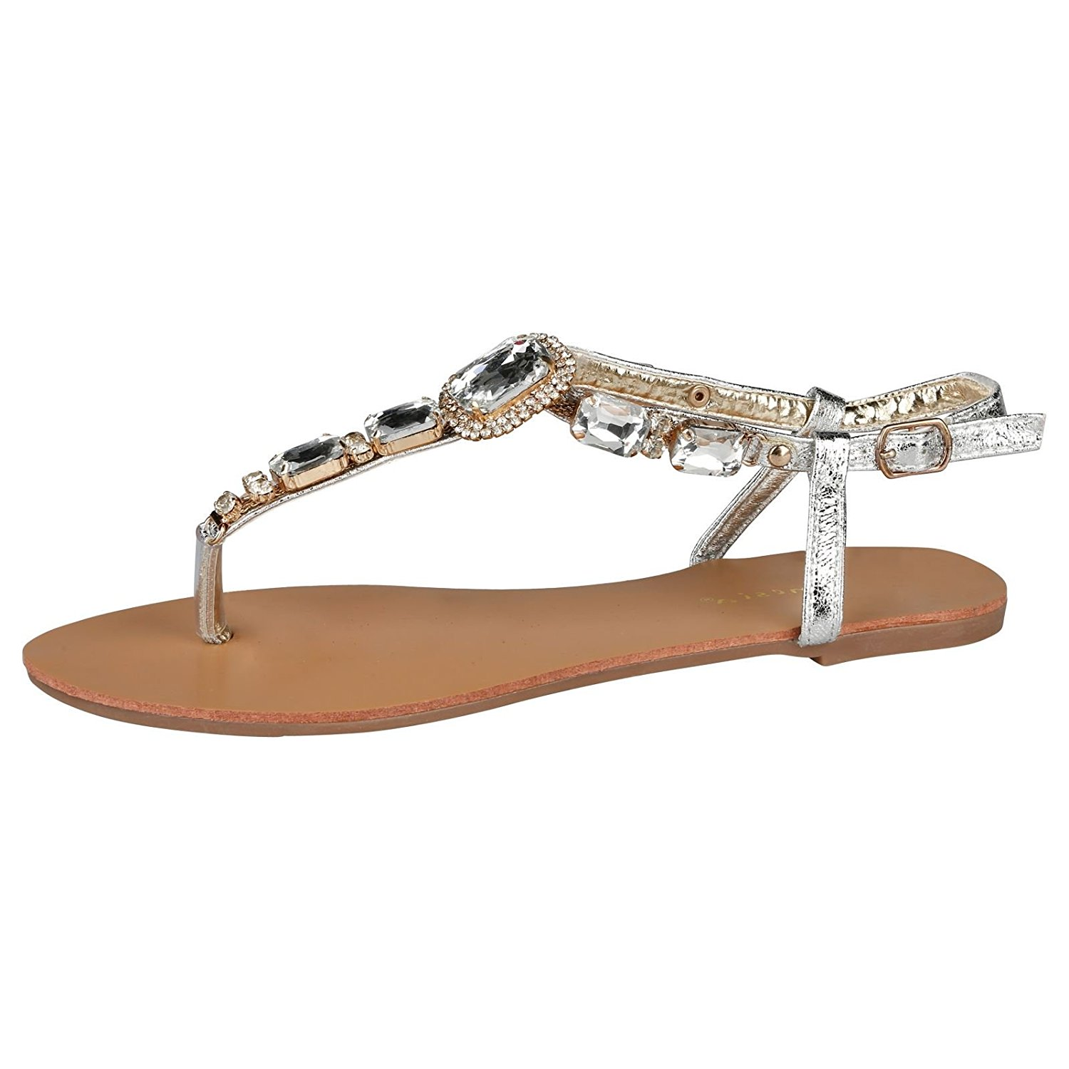 0c9535329c1ae Happy Feet Snooki s Zebra Print Hooded Thong Sandals. 9.99. null. Get  Quotations · Feet First Fashion Zola Womens Flat Toe Strap Jewelled Thong  Sandals