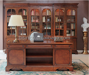 Noble Classic Home Office Furniture Vintage Wooden Executive Office