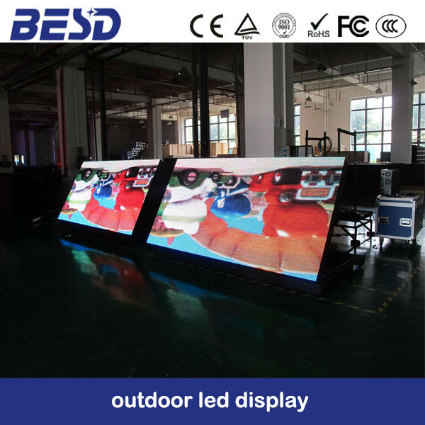 8ft x 4ft LED display screen with front service access
