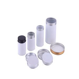 Gray aluminum beverage plastic cans made of aluminum tin