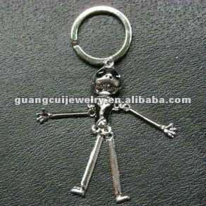 fashion key chains skulls dynamo keychain