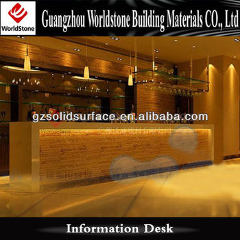 Commercial Bar Counter Design With Beauty Light Effect