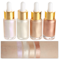 Hot Sell 4 Colors Shimmer and Shine Waterproof Face Liquid Highlighter Makeup