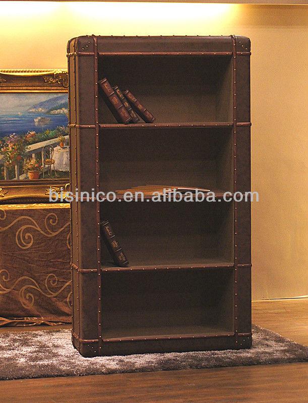 lederen kantoor aan huis boekenkast engels stijl boekenkast b260165