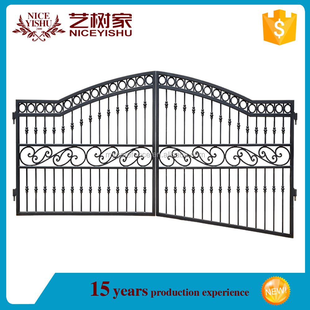 Yishujia Factory Wholesale Simple Wrought Iron Gates,Driveway Iron ...
