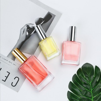 50ml Personalized refillable square cute empty perfume bottles