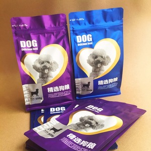 wholesale high quality standing aluminum foil dog food bag