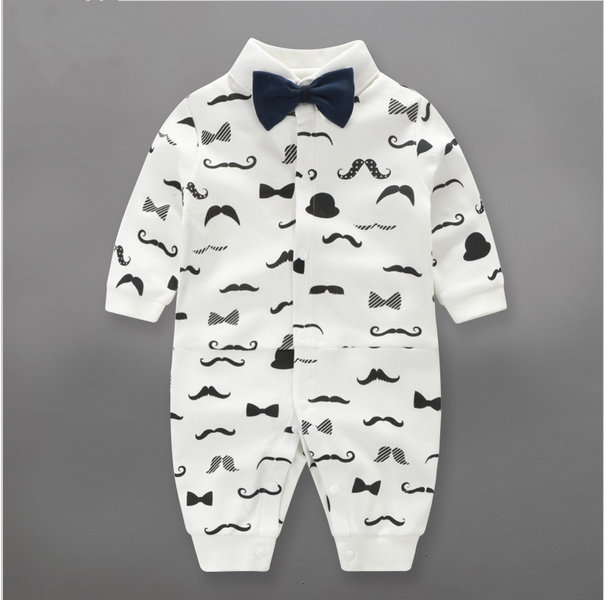Baby Rompers 2016 Fashion gentleman tie Brand Ropa Long Sleeve Cotton Baby Costume Spring Autumn Romper Newborn Baby Clothes