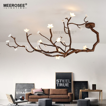 Meerosee Modern Creative Pendant Lamp Tree Branch Led Hanging