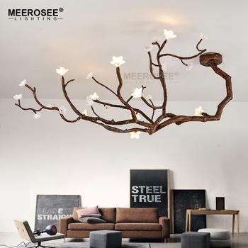 Meerosee Modern Creative Pendant Lamp Tree Branch Led Hanging Bloom Flower Suspended Lighting Re Indoor Md85430