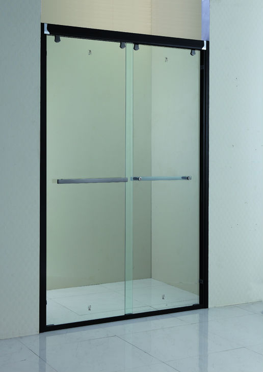 Cheap Only Black Frame Fiberglass Sliding Shower Door