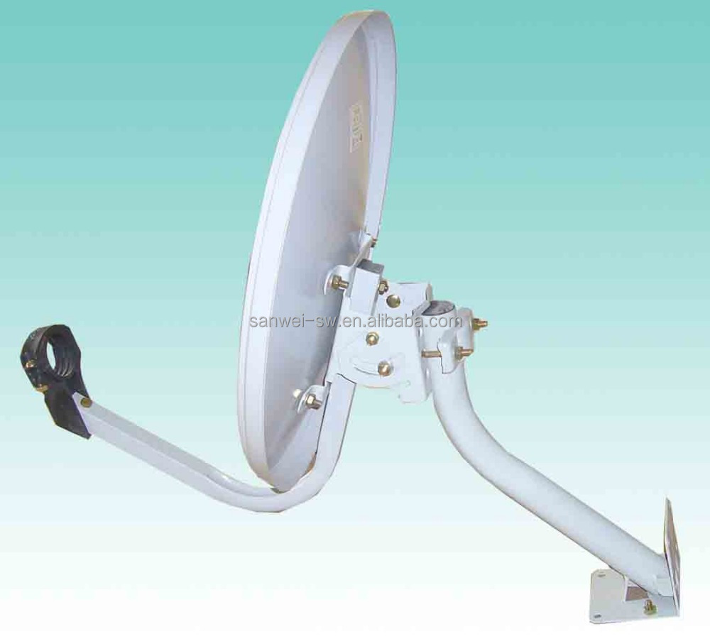 Ku35cm Small Outdoor Satellite TV Antenna Dish with wall mount