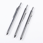 multifunctional metal click mechanism ball point pen with 4 refills