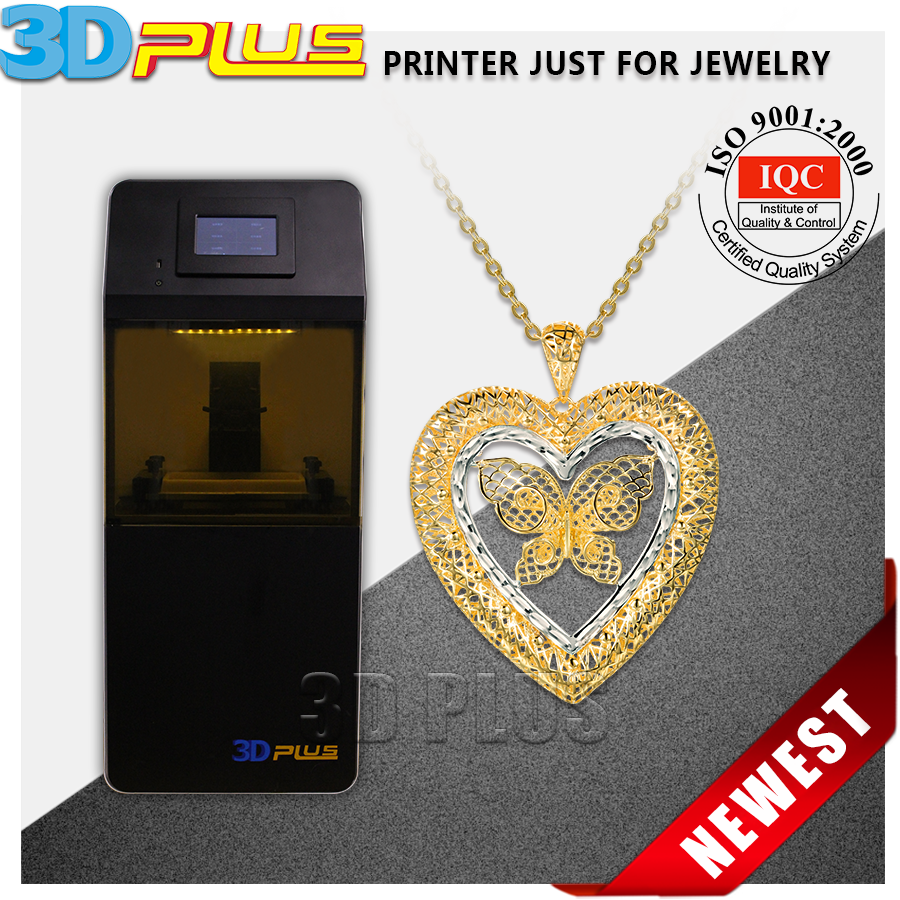 3D Printer 2017 Newest Jewelry Desktop 3D Printer with Printing Precision 0.01mm and High Surface Finish