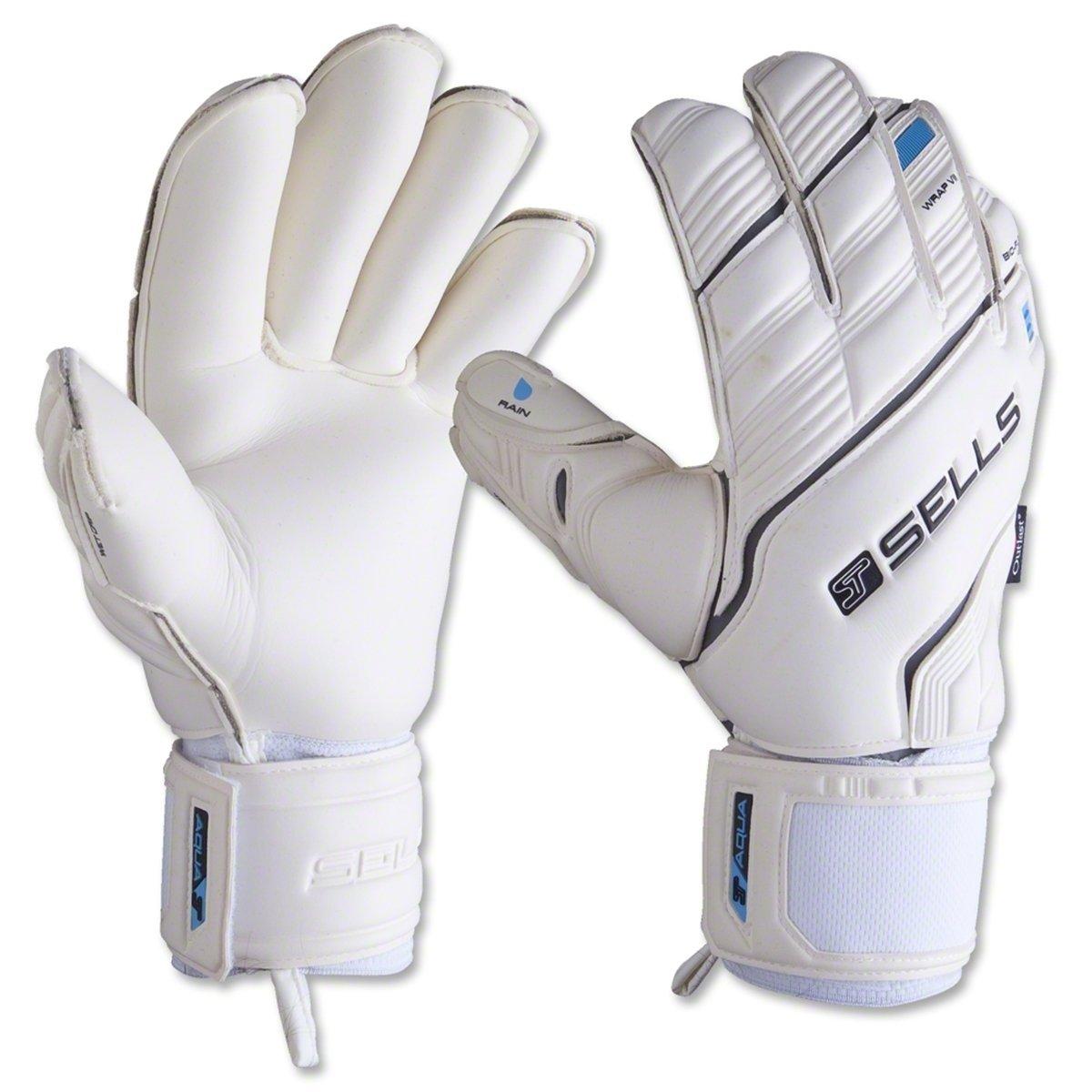 Get Quotations · Sells Wrap Elite Aqua Goalie Gloves 8915b17b0afa