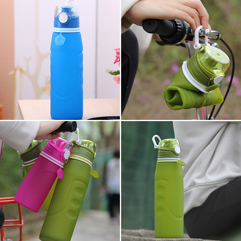 collapsible silicone sports water bottle bpa free 1000ml water bottle