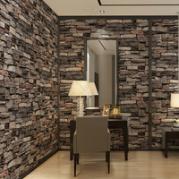 Guangzhou Stock! 3D Brick Wall Paper Interior Modern 3D Wallpaper for Home Decoration