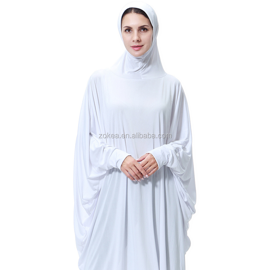 Stock muslim wedding dresses white abayas in india in turkey