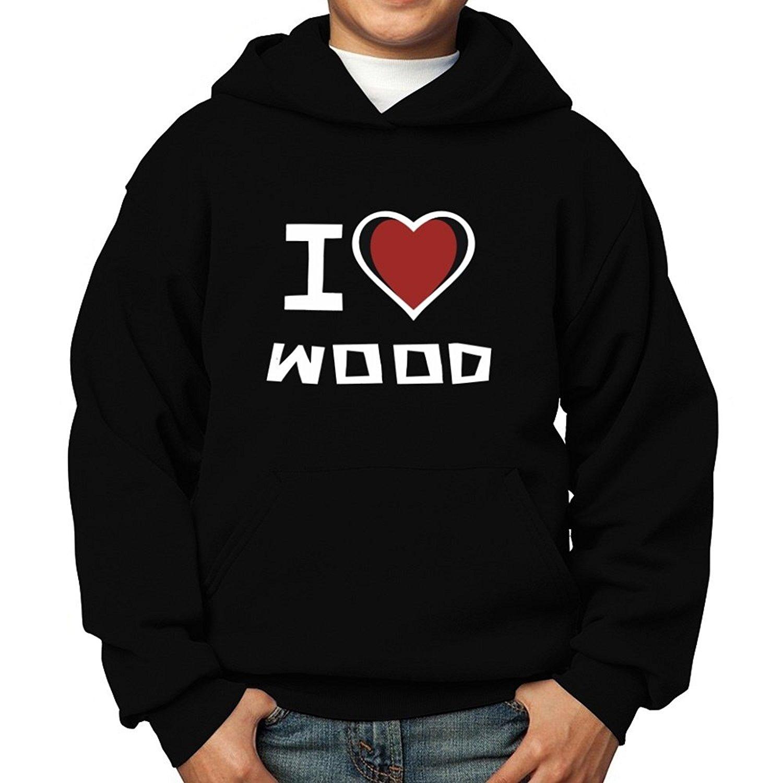 Teeburon I Love Wood Boy Hoodie