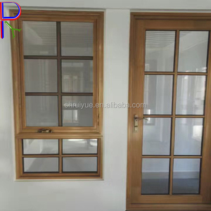 PVC decorative interior hinges frame frosted glass door