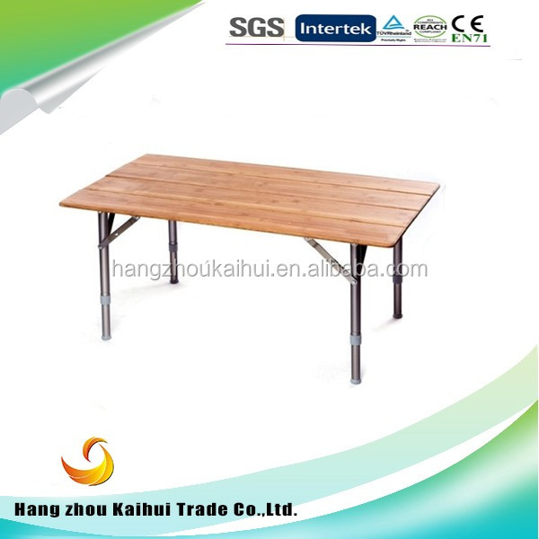 Lightweight Portable 4 Folding Bamboo Table With Carry Bag