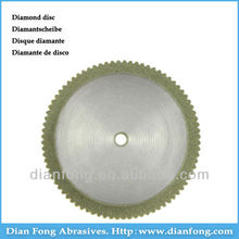 N22D20 22mm Flexible Miniature Solid Dental Edge Coated Diamond Disc Grinding Disk