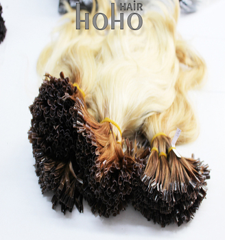 8A grade colorful ombre european u tip pre bonded hair extension