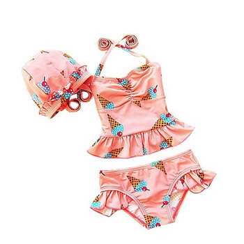 Sublimation print little Girl Swimwear tankini set UPF 50+ sun protective grade