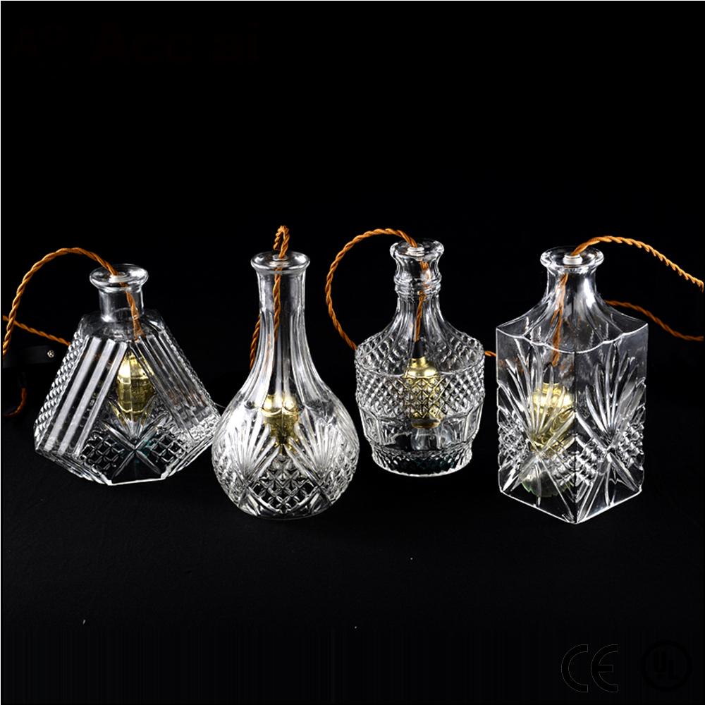 moderne glas mundgeblasenem flasche beleuchtung kronleuchter pendelleuchte kristall lichter. Black Bedroom Furniture Sets. Home Design Ideas