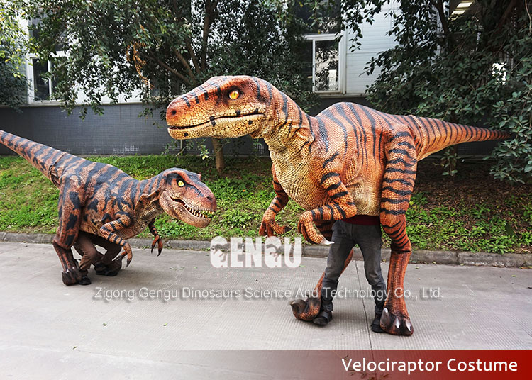 Interactive rubber adult dinosaur costumes