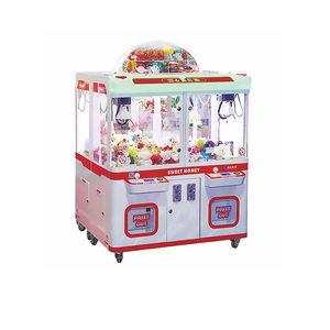 claw crane game machine toys auto adjust grip coin operated