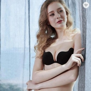 3b6b645f87 Sexy Women Strapless Bra Invisible Push Up Bra Angel Wing Shape Self-Adhesive  Silicone Bust