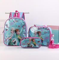 KIDS INSULATED LUNCH bag, school bag and pencil bag 3pcs set pencil case and backpack set
