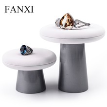 FANXI Custom PU Leather Jewellery Exhibitor Stand For Ring Earring Charms Bangle Necklace Holder Resin Jewelry Bracelet Display