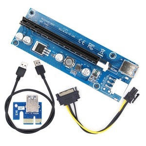 New PCI E PCI E Express 1X to 16X Riser Card and USB 3.0 Extender Cable for Bitcoin Mininge Graphics for ETH Mining Card