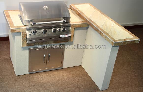 bbq insel 304 edelstahl outdoor k che mit pizzaofen. Black Bedroom Furniture Sets. Home Design Ideas