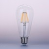 Wholesale 360degree CE UL approved AC85-265V base E27 dimmable 8W ST64 filament bulb LED indoor light