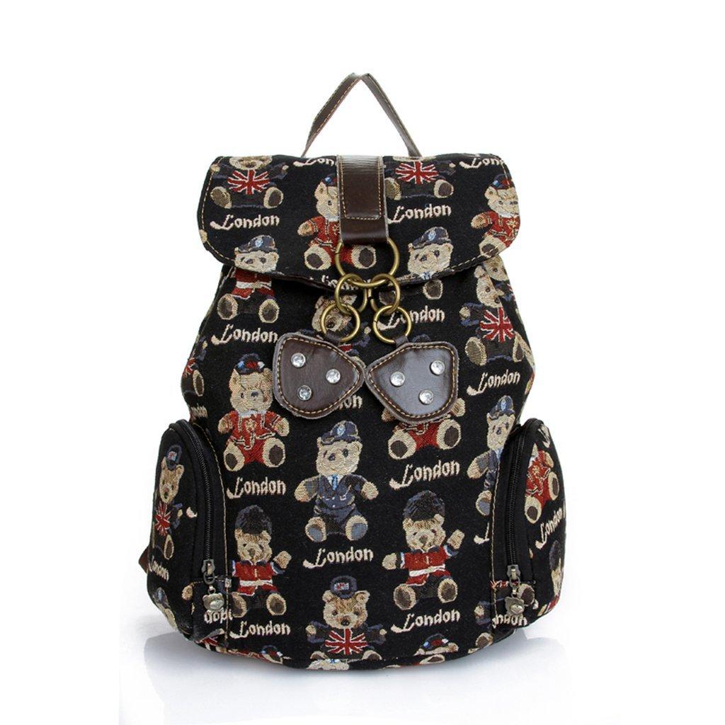 d79f4678f423 Get Quotations · Sunwel Bear Pattern Student Book Backpack for Teenage Girl  Laptop Backpack for 11 Inch 12 Inch