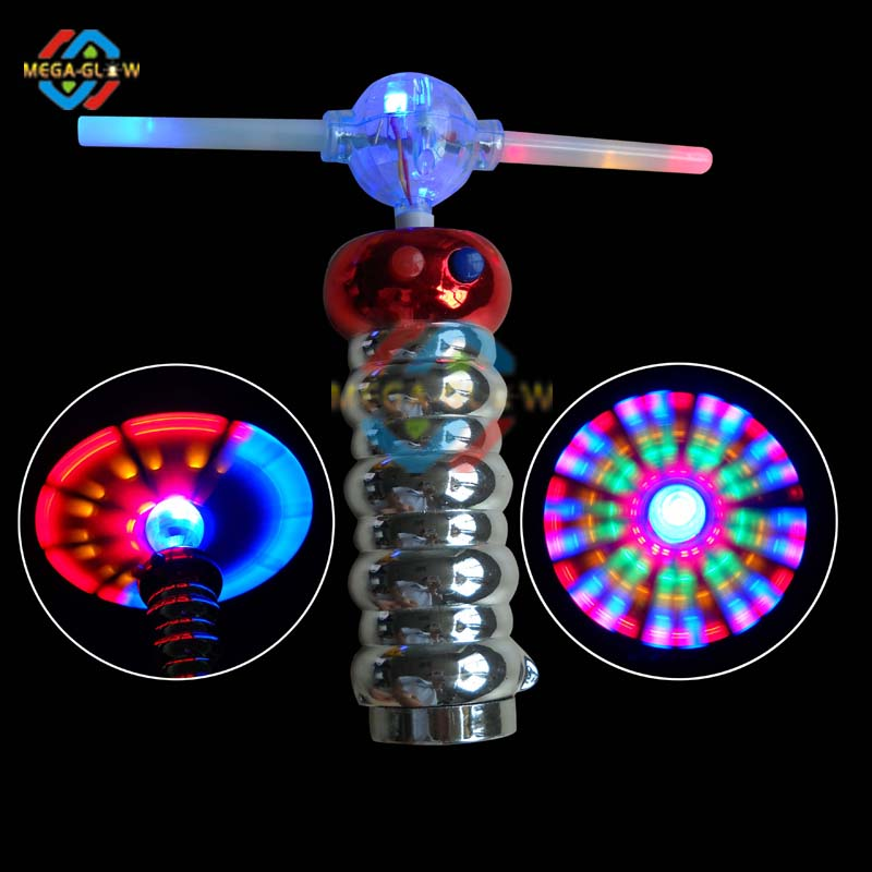 unique led flashing colorful spinner with music