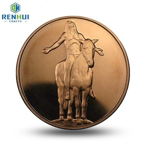 Factory Price Metal Custom Logo Collectible Rose Gold Souvenir Challenge  Coins Indian Old Coins Sale Old Coin