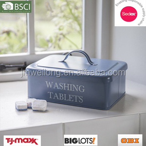 Tin Washing Tablets cleaning caddy