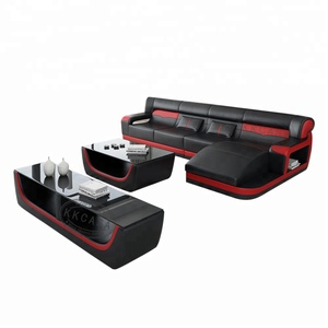 Furniture Set Luxurious house in living room sofas Small L shaped leather sofa Furniture Market Sale