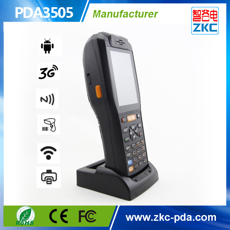 Handheld pda with printer , RFID card reader , WIFI ,3G Android barcode scanner terminal