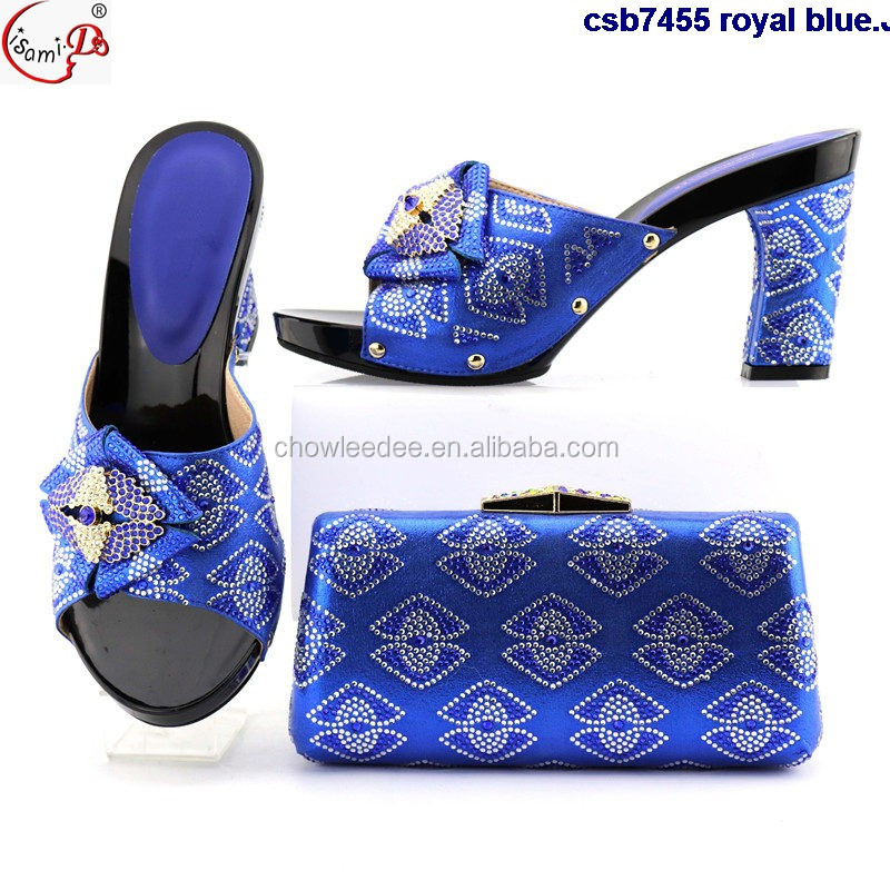 royal italian party blue stones wedding set and Many bag ornament heel shoes csb7455 high twnZ4