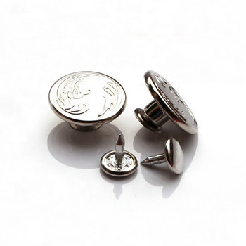 Eco Friendly Nickel Free Decorative Embossed Pattern 20mm Big Size Zinc Alloy Metal Jeans Buttons